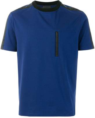 Prada contrast panel T-shirt