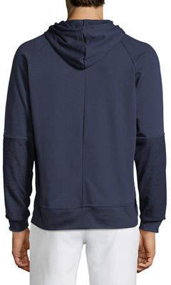 Tahari Sport Reverse-Panel Pullover Hoodie