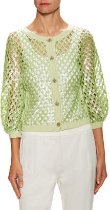 Chanel Cashmere Sequin Cardigan