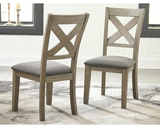 Gracie Oaks Bromborough Upholstered Dining Chair (Set of 2) Gracie Oaks