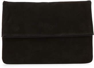 Moda Luxe Black Gianna Suede Clutch