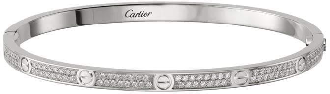 18kt White Gold Love Diamond Bracelet