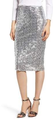 Halogen Sequin Pencil Skirt