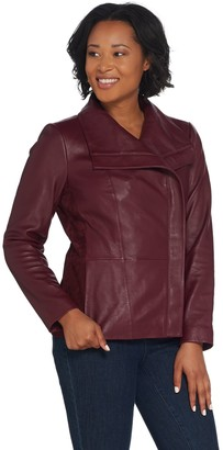 Halston H By H by Leather and Suede Motorcycle Jacket