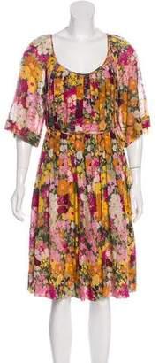 3.1 Phillip Lim Floral Print Knee-Length Dress