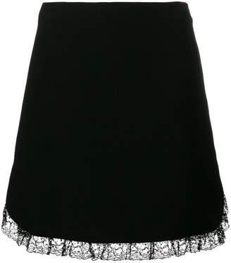 Miu Miu lace trimmed mini skirt