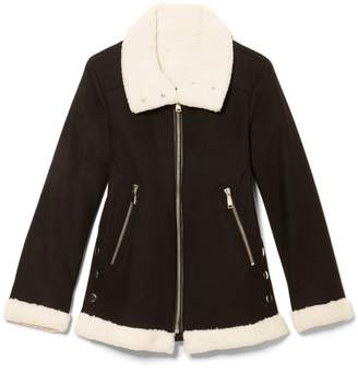 Vince Camuto Faux Shearling-trim Jacket