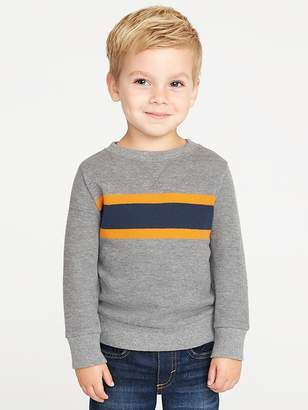 Old Navy French-Rib Chest-Stripe Pullover for Toddler Boys