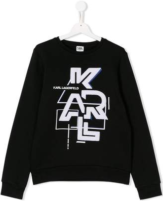 Karl Lagerfeld TEEN logo patch sweatshirt