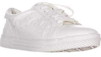 Bebe Destine Lace Up Fashion Sneakers, White.
