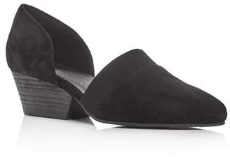 Eileen Fisher Women's Hilly Suede d'Orsay Mid-Heel Pumps
