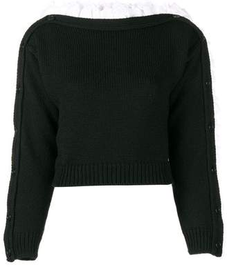 Philosophy di Lorenzo Serafini boat neck volant sweater