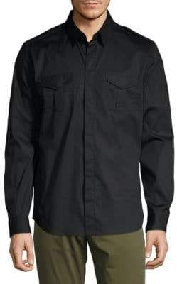 Karl Lagerfeld Collared Button-Front Shirt