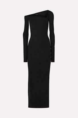 Alix Morris Ribbed Stretch-modal Jersey Maxi Dress - Black
