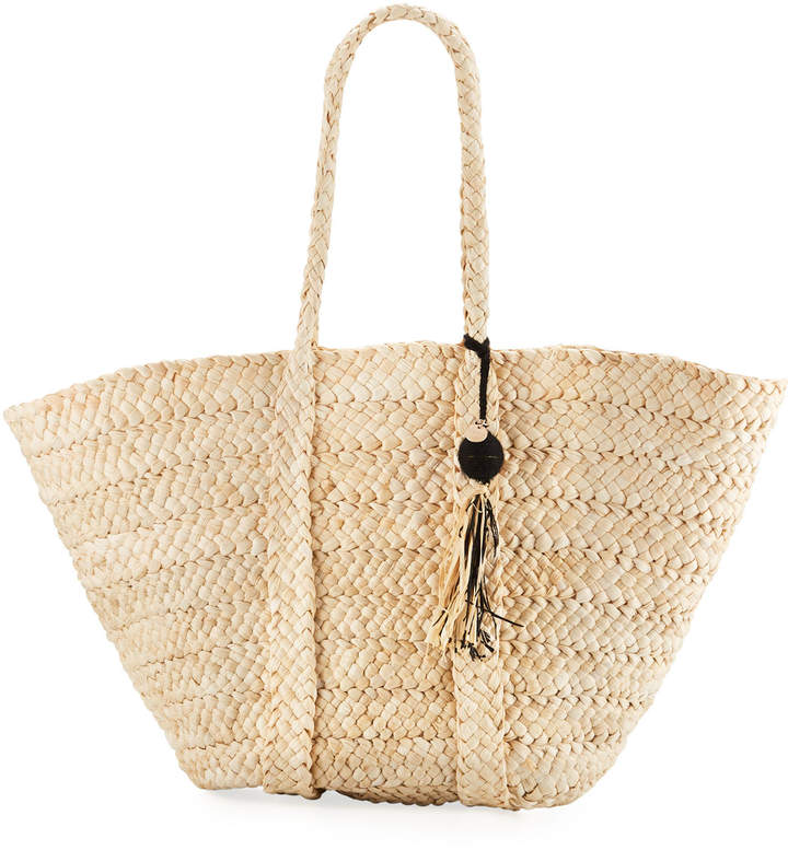 Seafolly Carried Away Beach Basket Tote Bag