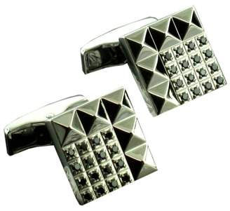 S.t. Dupont S.T.Dupont Stainless Steel & Black Diamond Cufflinks