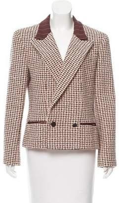 Chanel Woven Peak-Lapel Blazer