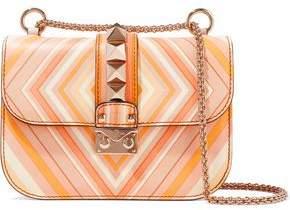 Valentino Glam Lock Printed Leather Shoulder Bag