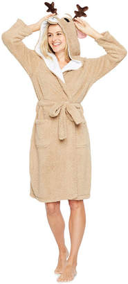 Asstd National Brand Peace, Love, and Dreams Cozy Critter Short Plush Robe