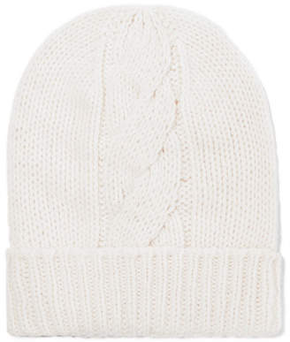 Majestic Filatures Cable-knit Wool And Cashmere-blend Beanie - Cream