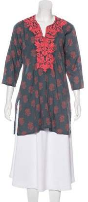 Roberta Roller Rabbit Embroidered Floral Tunic