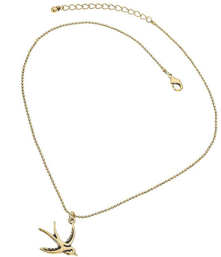 Swallow on Chain Necklace