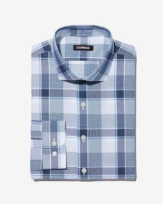 Express Extra Slim Large Plaid Dress Shirt