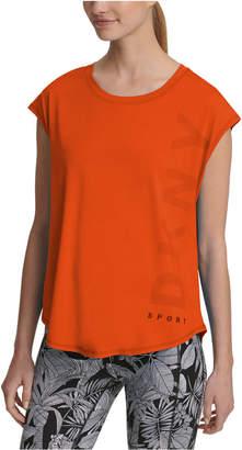 DKNY Sport Logo Cap-Sleeve T-Shirt