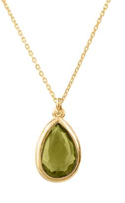 Latelita - Pisa Mini Teardrop Necklace Gold Peridot