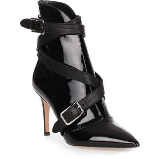 Gianvito Rossi Parker 85 black patent leather bootie