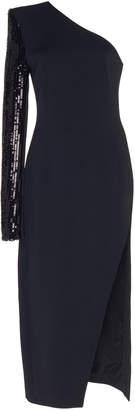 David Koma One Sleeve Sequin Midi Dress