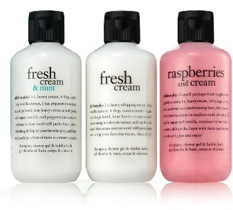 Philosophy Fresh Cream Shampoo, Shower Gel & Bubble Bath Trio $26 thestylecure.com