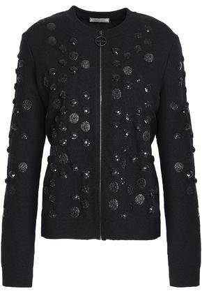 Sequin-Embellished Wool-Blend Jacket