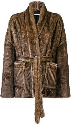 Mes Demoiselles fuzzy robe coat