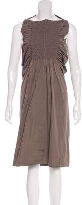 Rick Owens Pleated Midi Dress