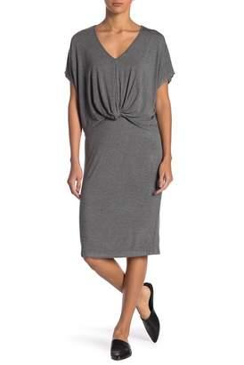 Bobeau V-Neck Front Twist Dress