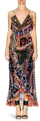 Camilla Ruffle Trim Wrap Dress