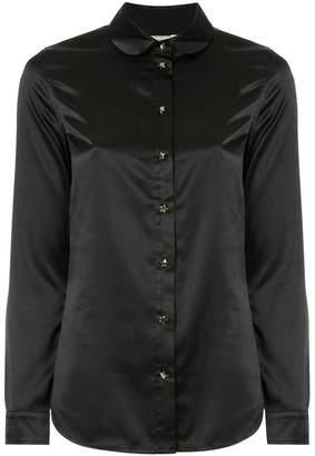 MAISON KITSUNÉ satin peter-pan collar shirt