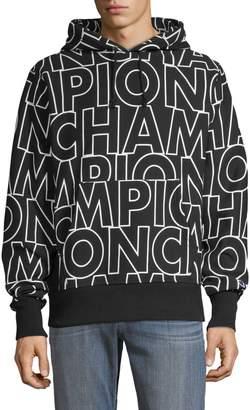 Champion Reverse Weave Logo-Print Cotton-Blend Pullover Hoodie