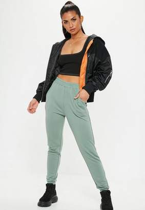Missguided Green Basic Joggers