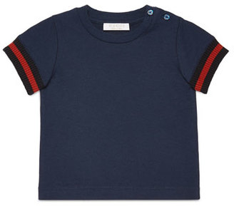 Gucci Short-Sleeve Slub Jersey Tee, Size 9-36 Months $125 thestylecure.com