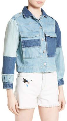 Rebecca Taylor Patched Denim Jacket