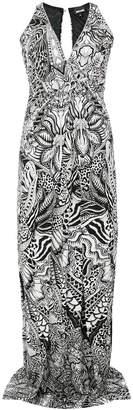 Just Cavalli long floral print dress