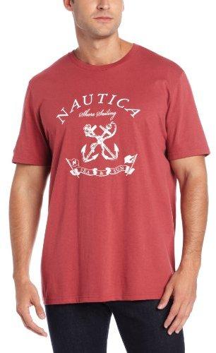 Nautica Men's Short Sleeve Shore Crew T-Shirt
