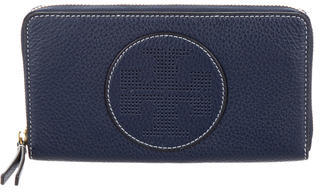 Tory Burch Tory Burch Perforated Leather Zip Around Wallet