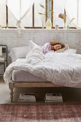 Washed Cotton Puffy Grid Duvet Cover