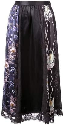 Jill Stuart floral print panels skirt