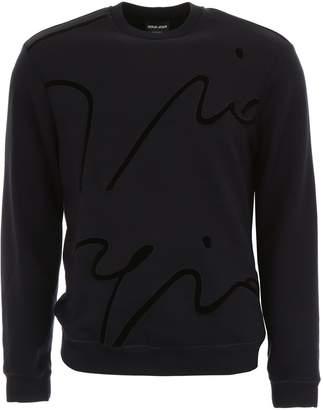 Giorgio Armani Sweatshirt With Embroidered Signature
