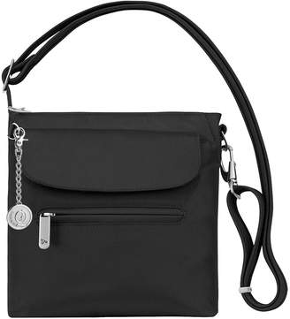 Travelon Quality By Us 42459 Anti-Theft Classic Mini Shoulder Bag with Metal Charm Keychain