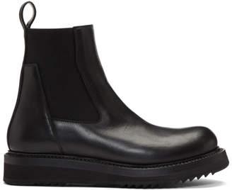 Rick Owens Black Elastic Creeper Boots